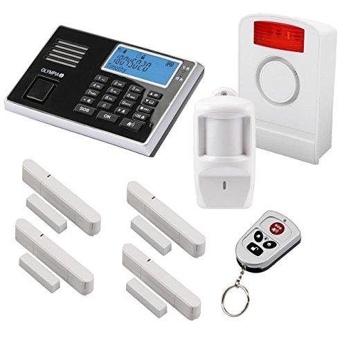 Olympia Protect 9061 Funk-Alarmanlage Super Set ✓ GSM Smat mit App✓ Kabellos ✓ Fenster & Tür |...