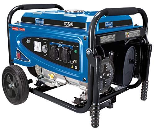 Scheppach SG3200 Generator 2800 Watt, 6,5 PS, 15 Liter Tank blau/schwarz kg