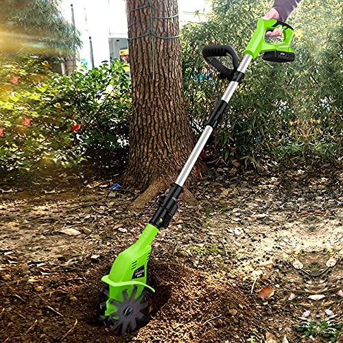 LIMEID 20V Motorhacke Mini-Bodenhacke Bodenkrümler Gartenhacke Kultivator mit 10cm Arbeitsbreite und...